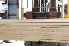 Lumber ready to load. royalty free stock photos