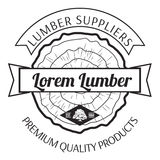 Lumber Shop Label Design Elements Vector. Illustration Stock Photography