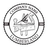 Lumber Shop Label Design Elements Vector. Illustration Royalty Free Stock Photo