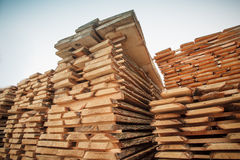 Lumber stack boards Stock Image