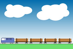 Lumber train Stock Photo
