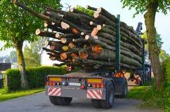 Lumber transportation Stock Photos