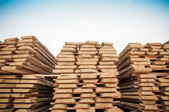 Lumber warehouse industry Royalty Free Stock Photo