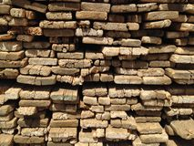 Lumber wood. Lumber stacked in a pile background stock images
