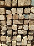 Lumber wood. A texture of lumber woods stacked royalty free stock photos
