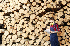 Lumber Working on Site Stock Images