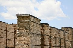 Lumber Yard Materials Royalty Free Stock Images