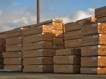 Lumber Yard royalty free stock photos