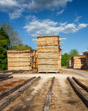 Lumber yard Stock Photo