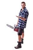 Lumberjack визируя что-то Стоковые Изображения RF