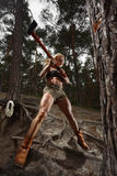 Lumberjack женщины фитнеса стоковые изображения