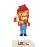 Lumberjack с осью Стоковые Изображения