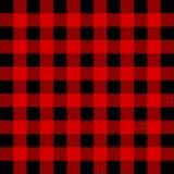 Картина шотландки буйвола Lumberjack безшовная Красный и черный Lumberjack иллюстрация вектора