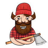 Lumberjack 1 zdjęcie royalty free
