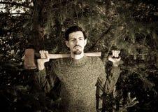 Lumberjack with ax. Stock Image