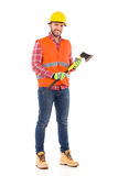 Lumberjack with an axe Royalty Free Stock Image
