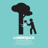 Lumberjack With Axe Symbol Royalty Free Stock Images