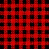 Lumberjack Bawoliej szkockiej kraty Bezszwowy wzór Czerwony i Czarny Lumberjack ilustracja wektor
