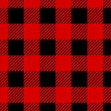 Lumberjack Buffalo Plaid Seamless Pattern. Red and Black Lumberjack vector illustration