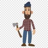 Lumberjack cartoon icon Royalty Free Stock Image