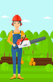 Lumberjack with chainsaw. Royalty Free Stock Photography