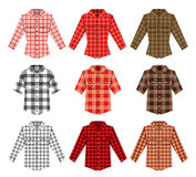 Lumberjack check shirt lumberjack old fashion. Vector patterns. Red, black, white check old fashion lumberjack shirt. Trendy hipster lumberjack shirt vector Royalty Free Stock Images