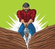 Lumberjack chop Stock Photos