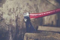 lumberjack curing firewood Stock Photo