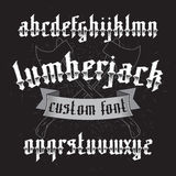Lumberjack custom gothic font set Stock Photo