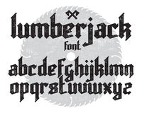 Lumberjack gothic font Stock Photo