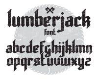 Lumberjack gothic font Stock Photo