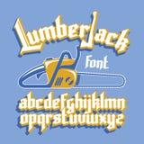 Lumberjack gothic font Stock Images
