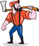 LumberJack Holding Axe Cartoon Stock Photos
