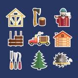 Lumberjack Icons Stock Images