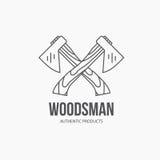 Lumberjack Logo Royalty Free Stock Image