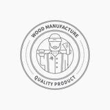 Lumberjack Logo Royalty Free Stock Images