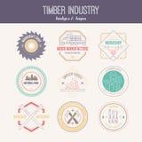 Lumberjack Logos Stock Photos
