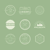 Lumberjack Logos Stock Photography