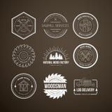 Lumberjack Logos Royalty Free Stock Image