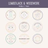 Lumberjack Logos Royalty Free Stock Photo