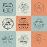 Lumberjack Logos Stock Images