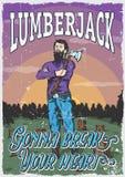 Lumberjack Man Poster Stock Image