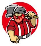 Lumberjack maskotka Zdjęcia Royalty Free