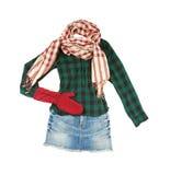 Lumberjack minispódniczki mody spojrzenie fotografia stock