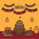 Lumberjack party ideas Stock Photos