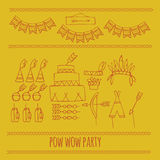 Lumberjack party ideas Stock Images