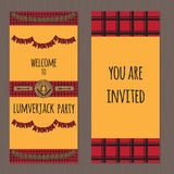 Lumberjack party ideas Royalty Free Stock Image