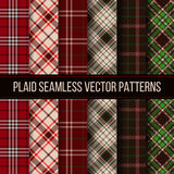 Lumberjack plaid, buffalo check, gingham seamless Stock Images