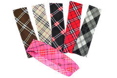 Lumberjack Plaid and Buffalo Check Patterns. Red, Black, White a Stock Photos