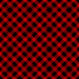 Lumberjack plaid pattern. Alternating red and black squares seamless background. Vector illustration. royalty free illustration